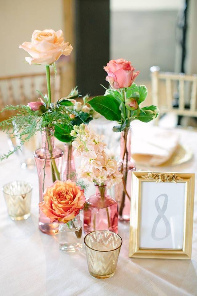 Mini-vase centerpiece! Photograph by Canary Grey