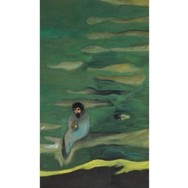 Peter Doig: 'By A River', oil on linen, 2003.