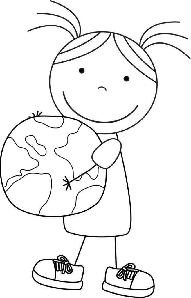 Kid Color Pages: Earth Day for Girls   Pinterest