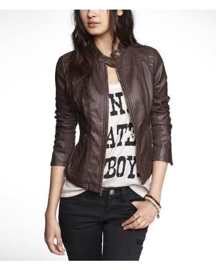 Fall S Best Faux Leather Jackets More Womens Jackets Casual Clothes Leather Jacket