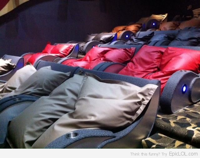 Beanbag Movie Theater? DO WANT!