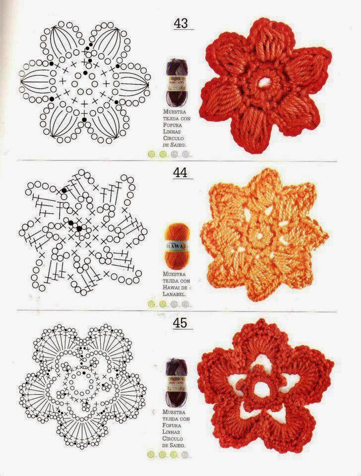 space lilac: crochet flowers, free charts / Free crochet flowers ...