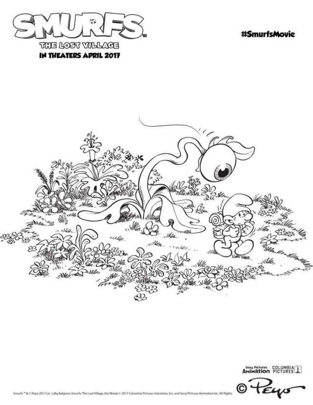 Top 11 Smurfs The Lost Village 2017 Coloring Pages Smurfs - best of printable coloring pages for january