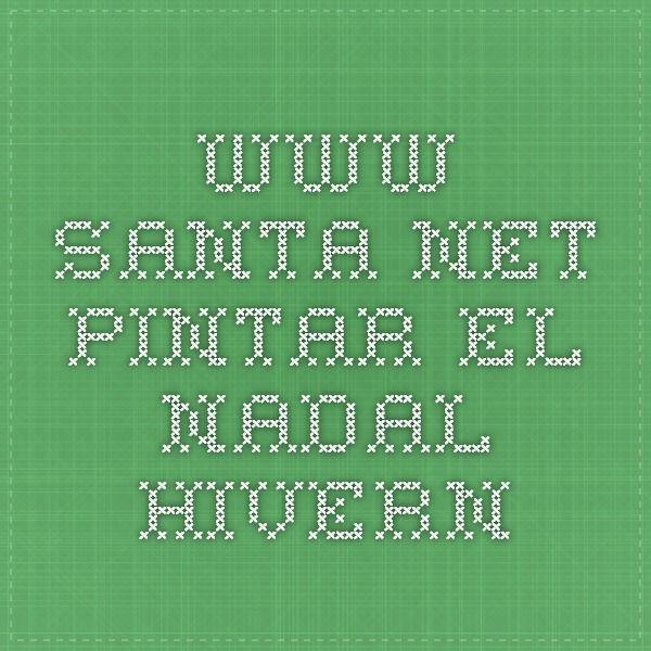 www.santa.net Pintar el Nadal-hivern