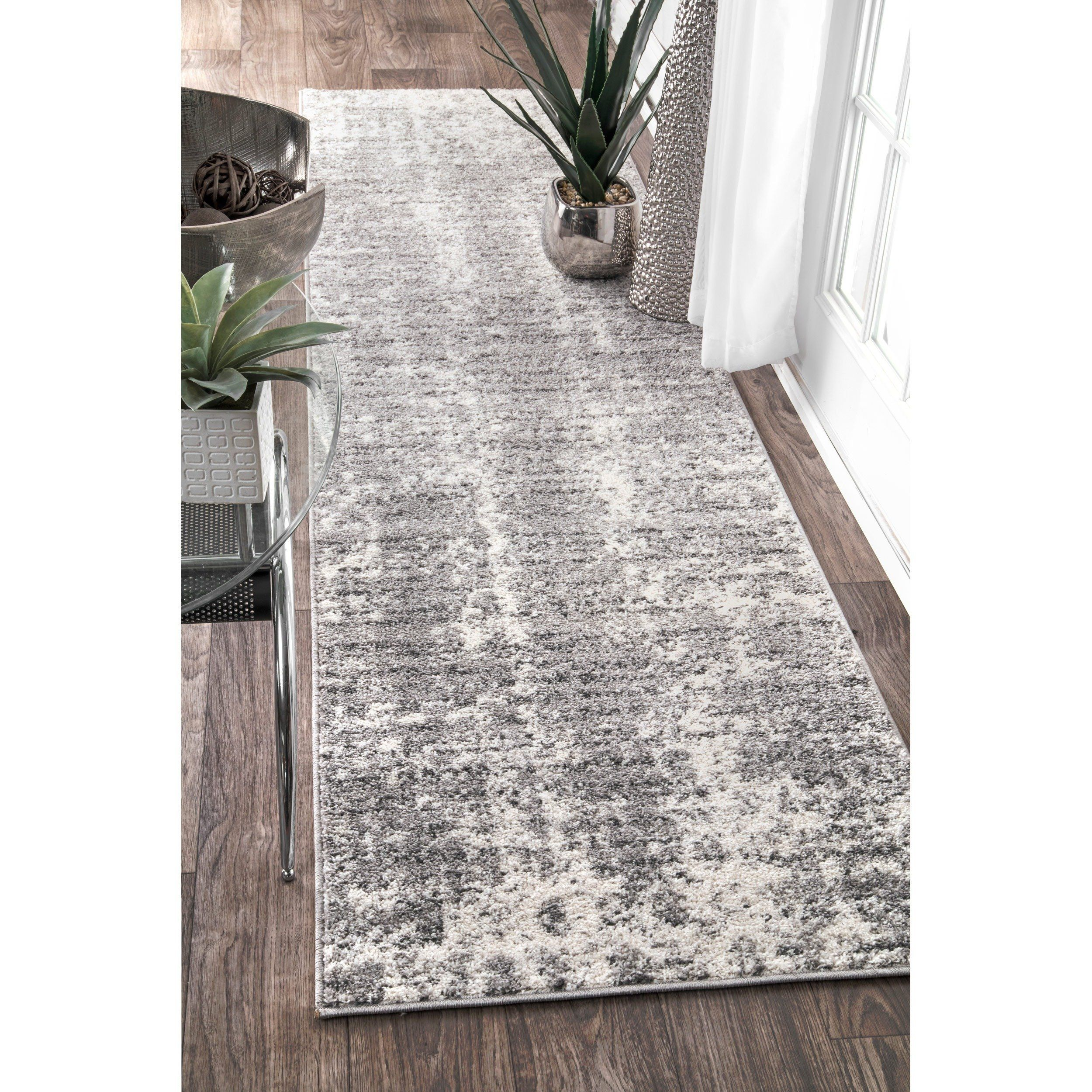Cream Grey Ivory Living Room Rugs Brown Faded Design Hallway Carpet Runners Rugs
