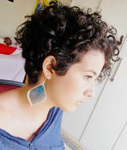 Curls Image For Very Good Brief All Natural Curly Haircuts Short 2016