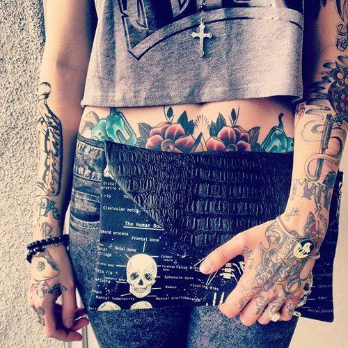 lower stomach tattoos are hot.