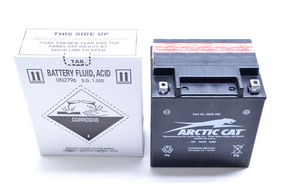 New OEM Arctic Cat 12V 335 CCA Sealed Battery 0645-398 NOS | eBay