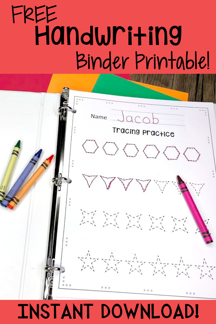 Free Handwriting Sheets That Will Improve Your Child S Handwriting Free Handwriting Homeschool Binder Free Handwriting Worksheets [ 1102 x 735 Pixel ]