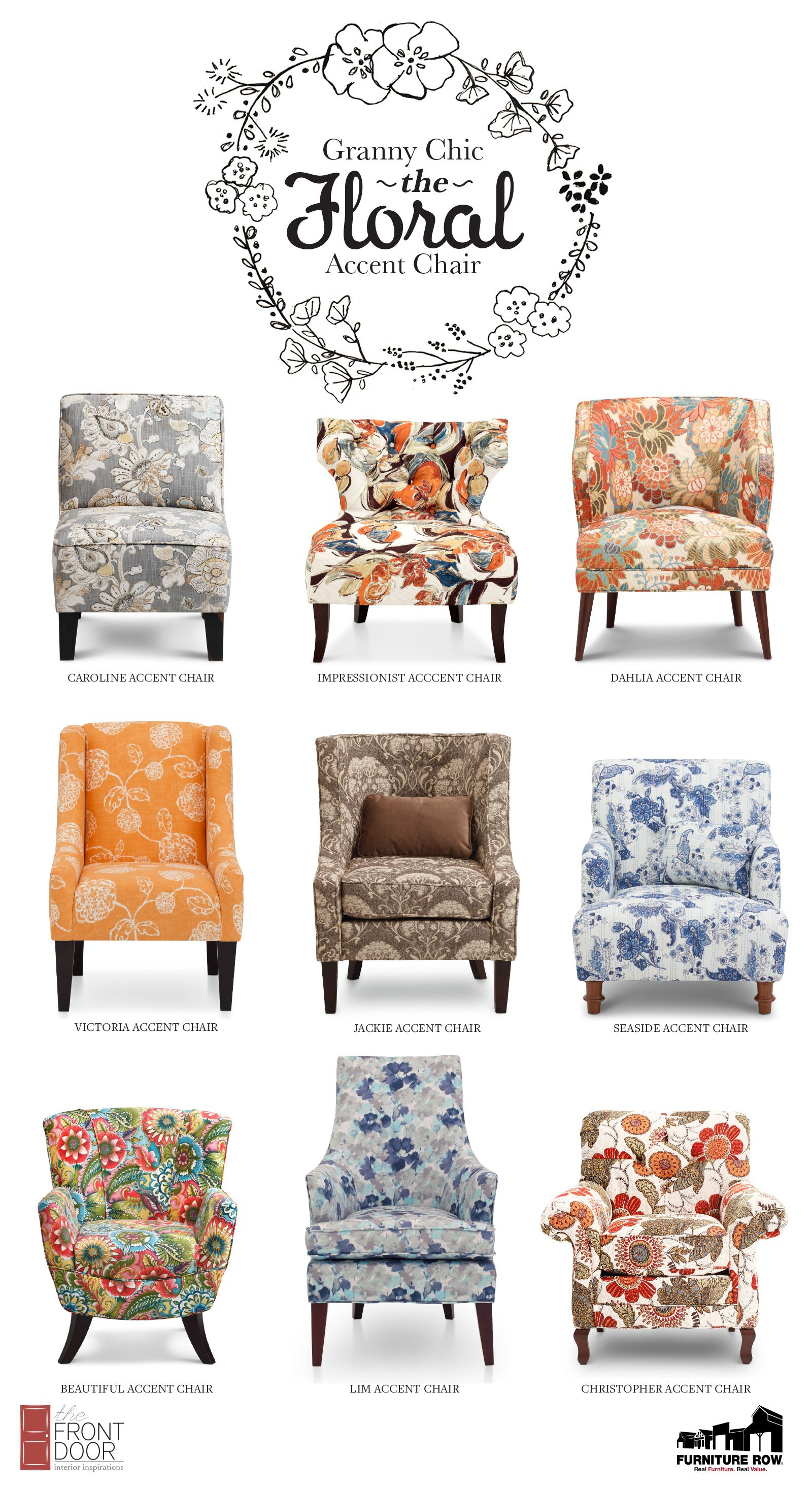 Granny Chic The Floral Accent Chair The Front Door Floral Accent Chair Floral Chair Living Room Shabby Chic Furniture