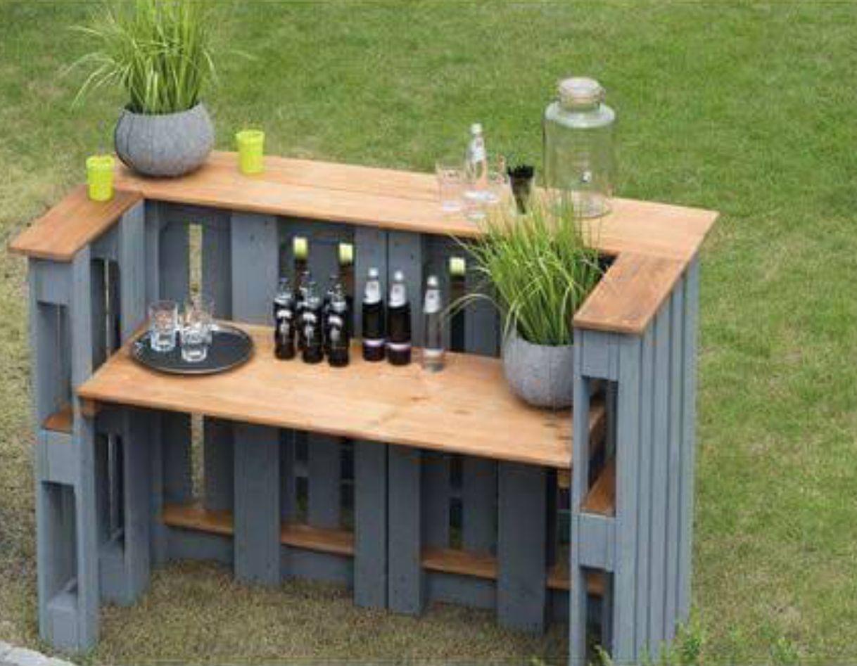 Outdoor Bar Made From Pallets Bar Aus Paletten Diy Gartenmobel Stehtisch Holz