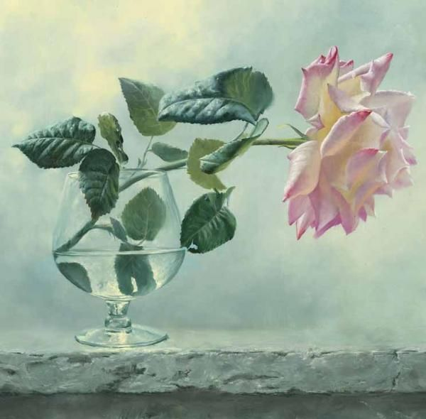 Beautiful Rose paintings by Alexei Antonov. Alexei is a Russian born fine artist who is fascinated by the classical painting. Classical realism is a creative process of the piece of art with the precise following of the rules and requirements which have been created during Renaissance Epoch and polished up later by the greatest artists from generation to generation
