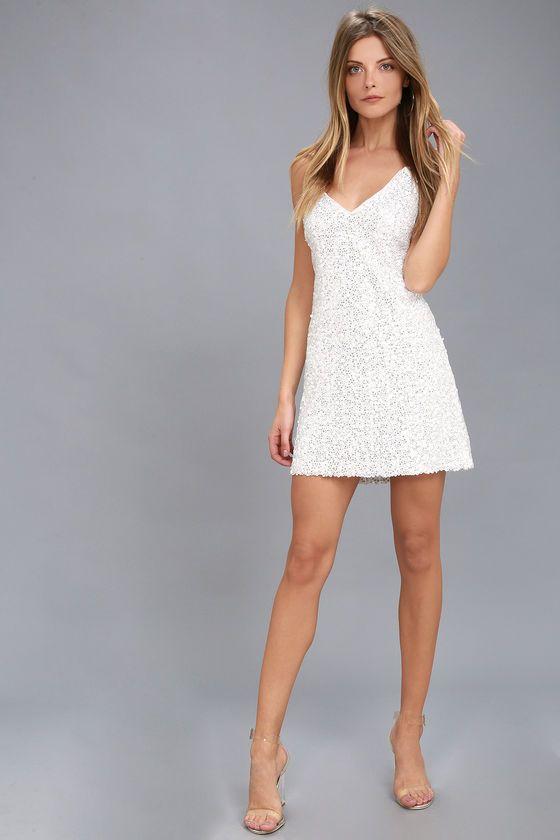 25+ Short white sequin dress ideas in 2021