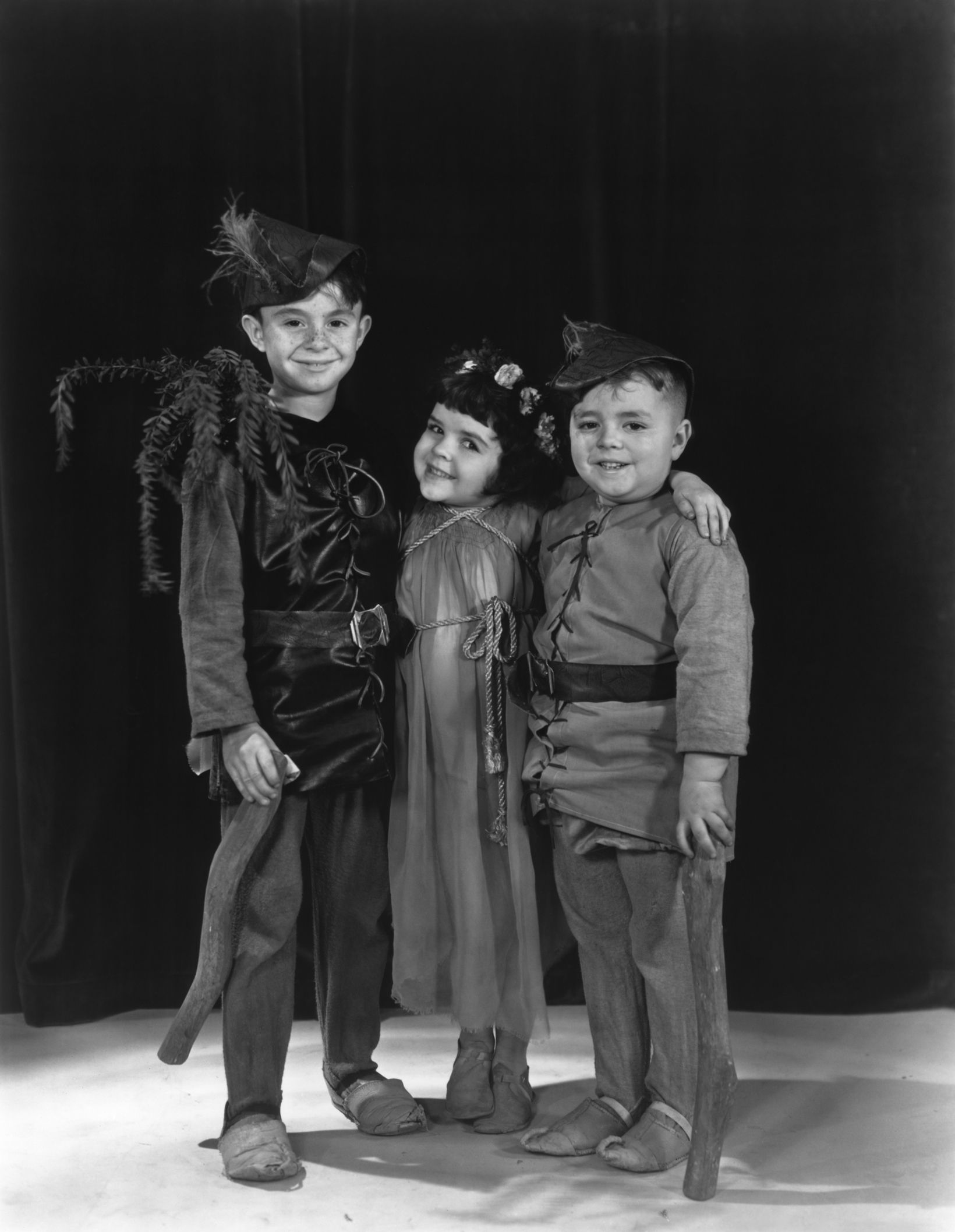 "Our Gang - Little Rascals in ""Arbor Day""  (L to R) Carl ""Alfalfa"" Switzer, Darla Hood, George ""Spanky"" McFarland"