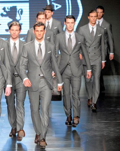 Grey Suit With Brown Shoes Very Elegant And Stylish