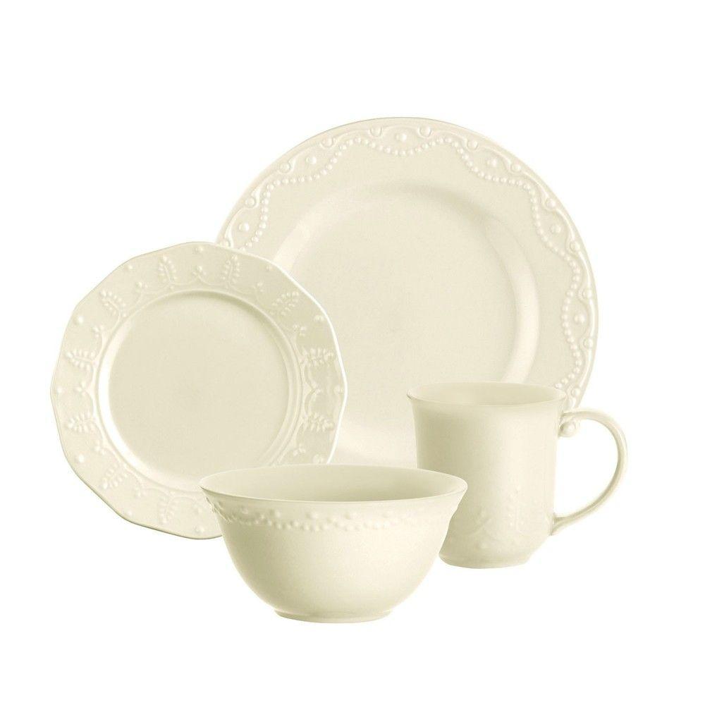 Paula Deen Whitaker Vanilla 16 Piece Dinnerware Set