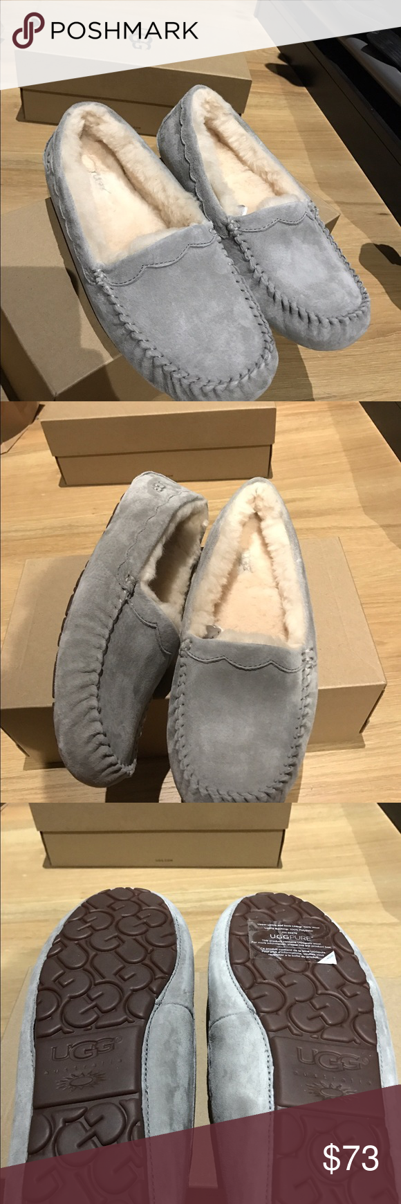 Ugg Ansley gray size 11 new with box Beautiful and cozy new ugg Ansley moccasins UGG Shoes Moccasins