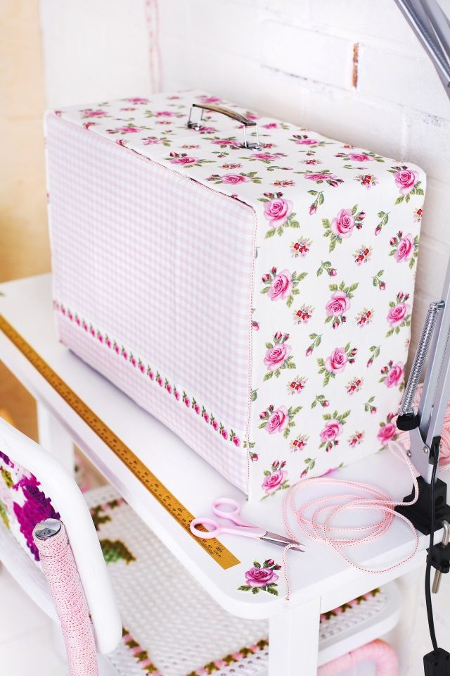 Tee suojus omepelukoneelle. DIY a cover to a sewingmachine.   Unelmien Talo&Koti Kuva: Satu Nyström Ohje: Anette Nässling
