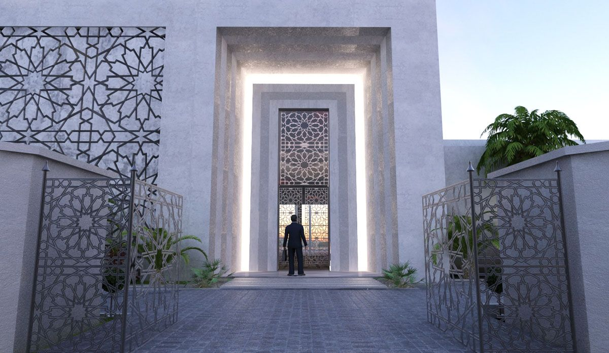 Arabic modern villa google search arabic modern style for Modern villa exterior design
