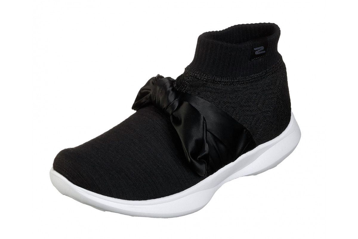 9405dc9d Skechers You Serene Contour Black White Comfort High Top Trainers Shoes