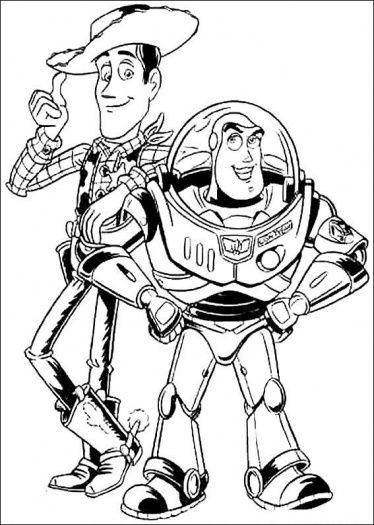 Buzz Lightyear And Woody Sheriff Coloring Page Super Coloring Toy Story Coloring Pages Coloring Pages Disney Coloring Pages