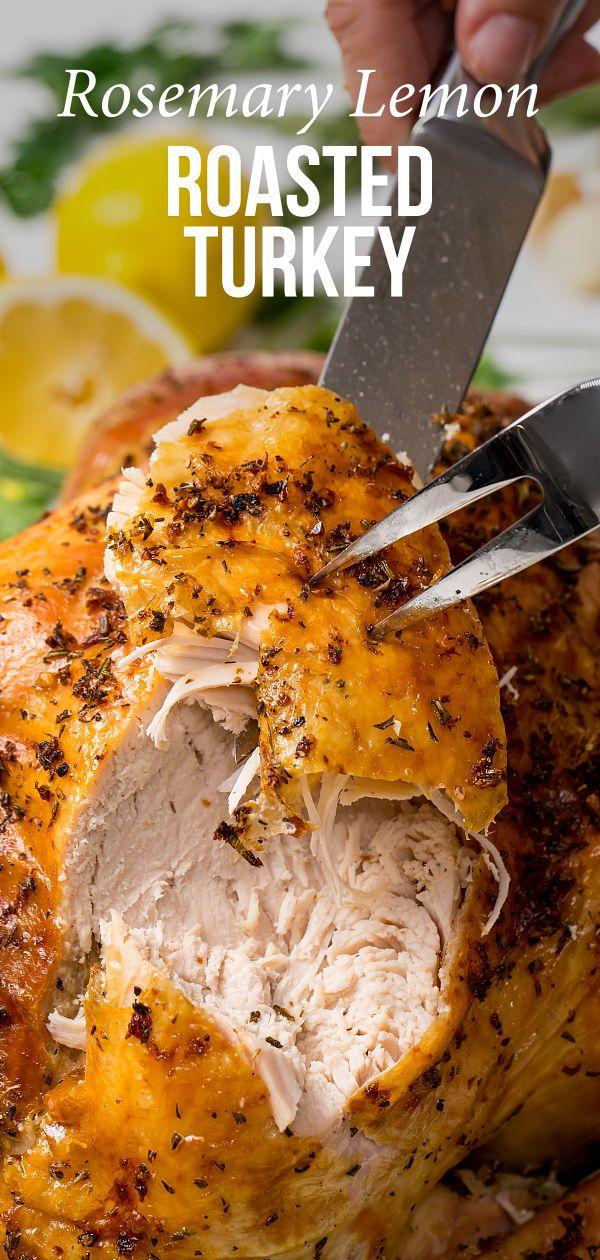 Photo of Delicious and juicy rosemary-lemon roasted turkey