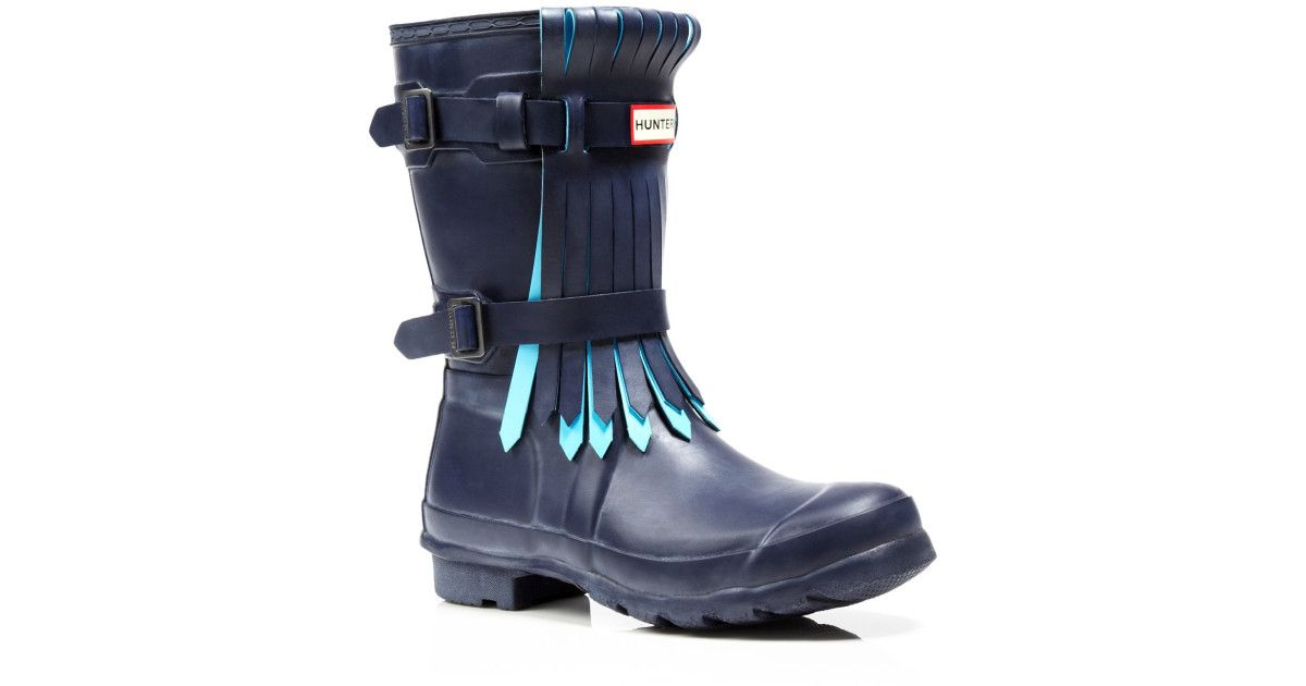 Hunter wellies with a fringe! I need these in my life