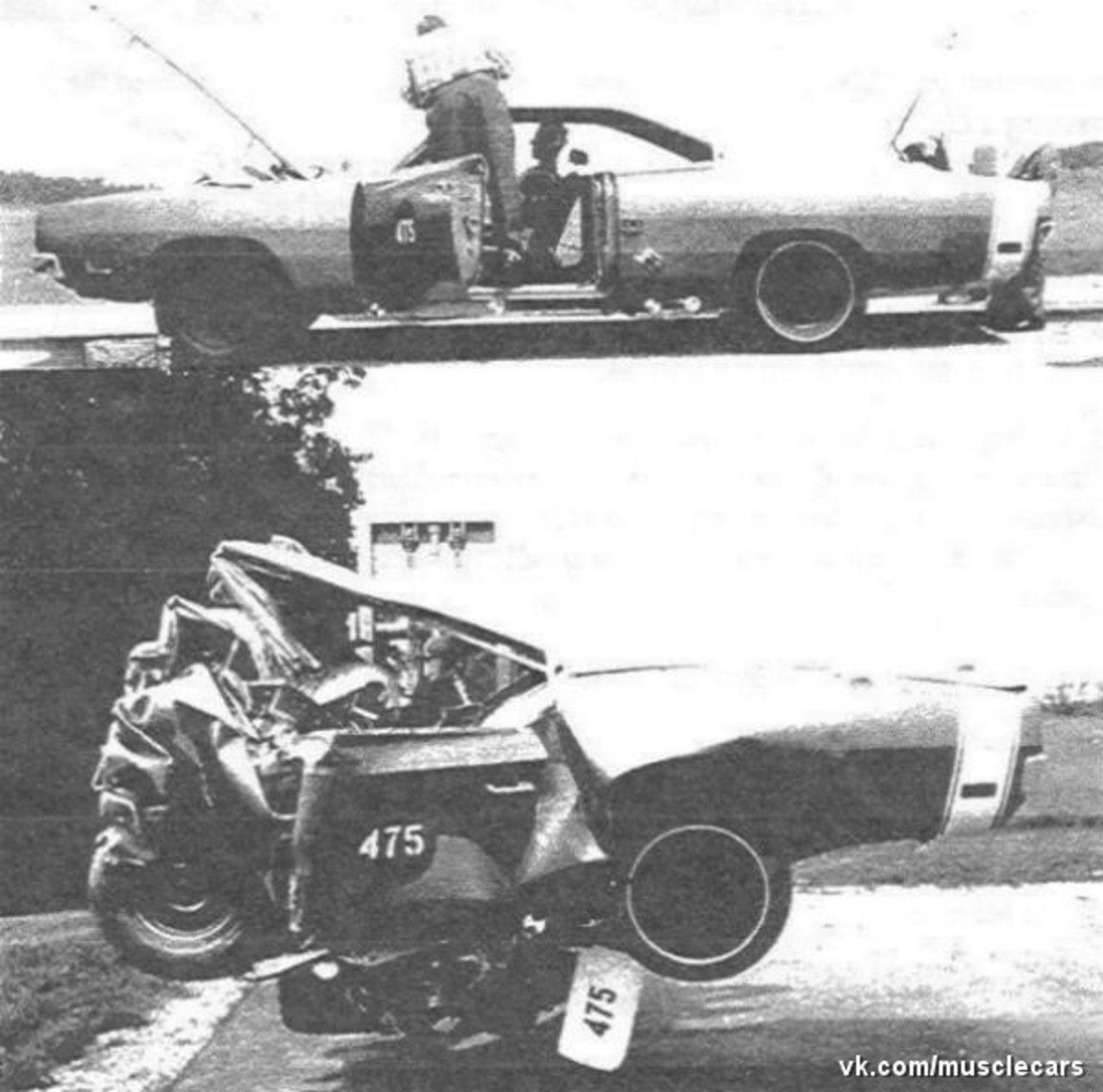 Motorcycle hits semi truck strange accident 31 12 2012 youtube - Dodge Charger 1969 Crash Test Hit The Wall