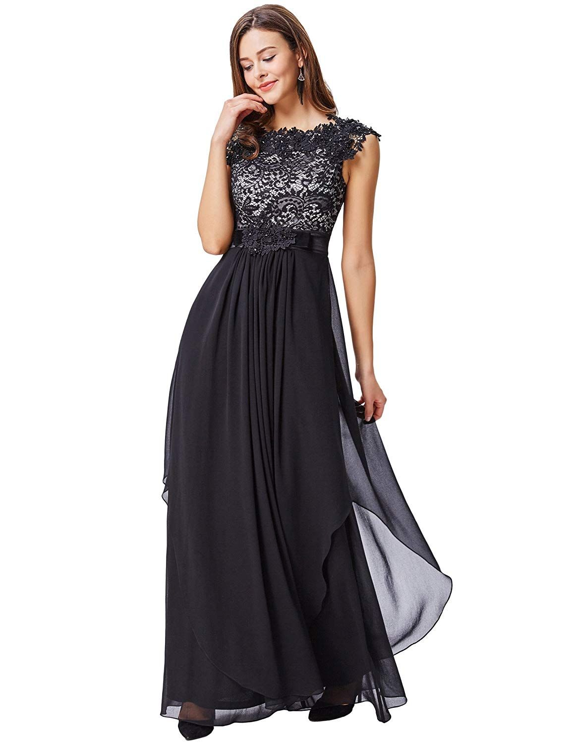 6aede3e1e60a Kate Kasin Cap Sleeve V-Back Lace Chiffon Ball Gown Evening Prom Party Dress  KK167   Check this awesome product by going to the link at the image.