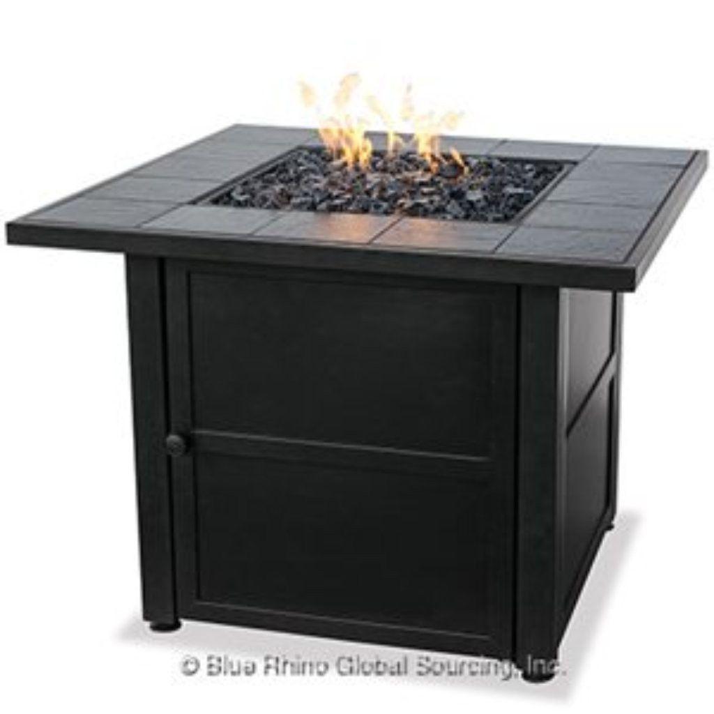 Blue rhino uniflame gadsp lp gas outdoor fireplace u the fire