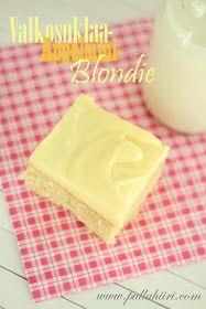 Pullahiiren leivontanurkka: Valkosuklaa-Appelsiini blondie / White chocolate-Orange Blondies
