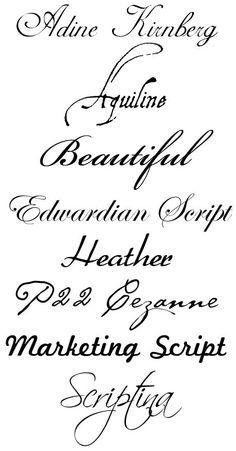 Cursive Tattoo Fonts