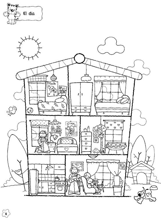 House Colouring Page House Colouring Pages Coloring Pages
