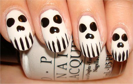 Skull Nails Halloween It Pinterest Skull Nails Makeup