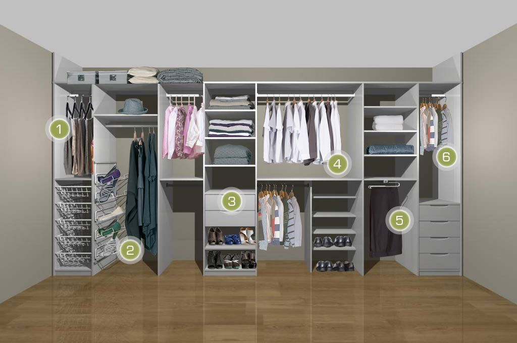 Man and womans fitted wardrobe storage House in 2018