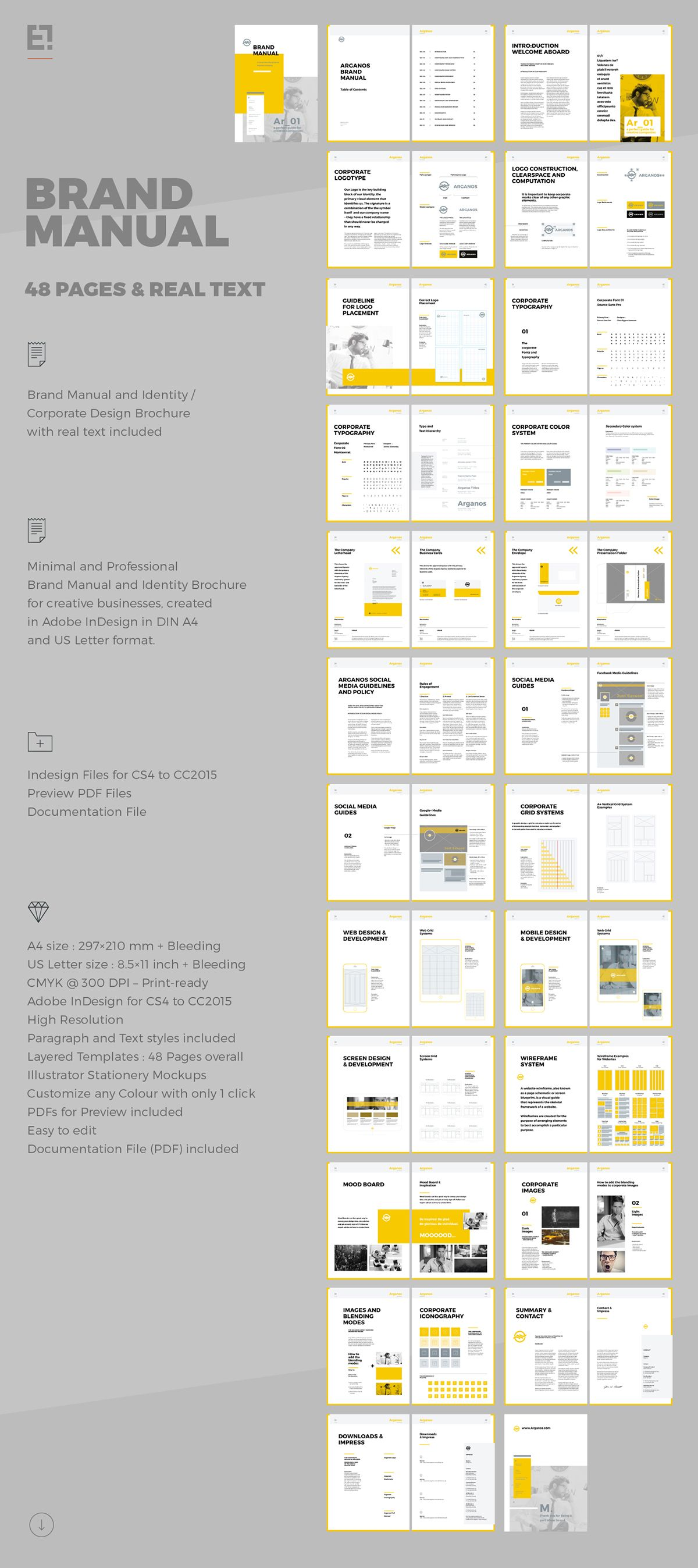Brand Manual on Behance | mockups | Pinterest