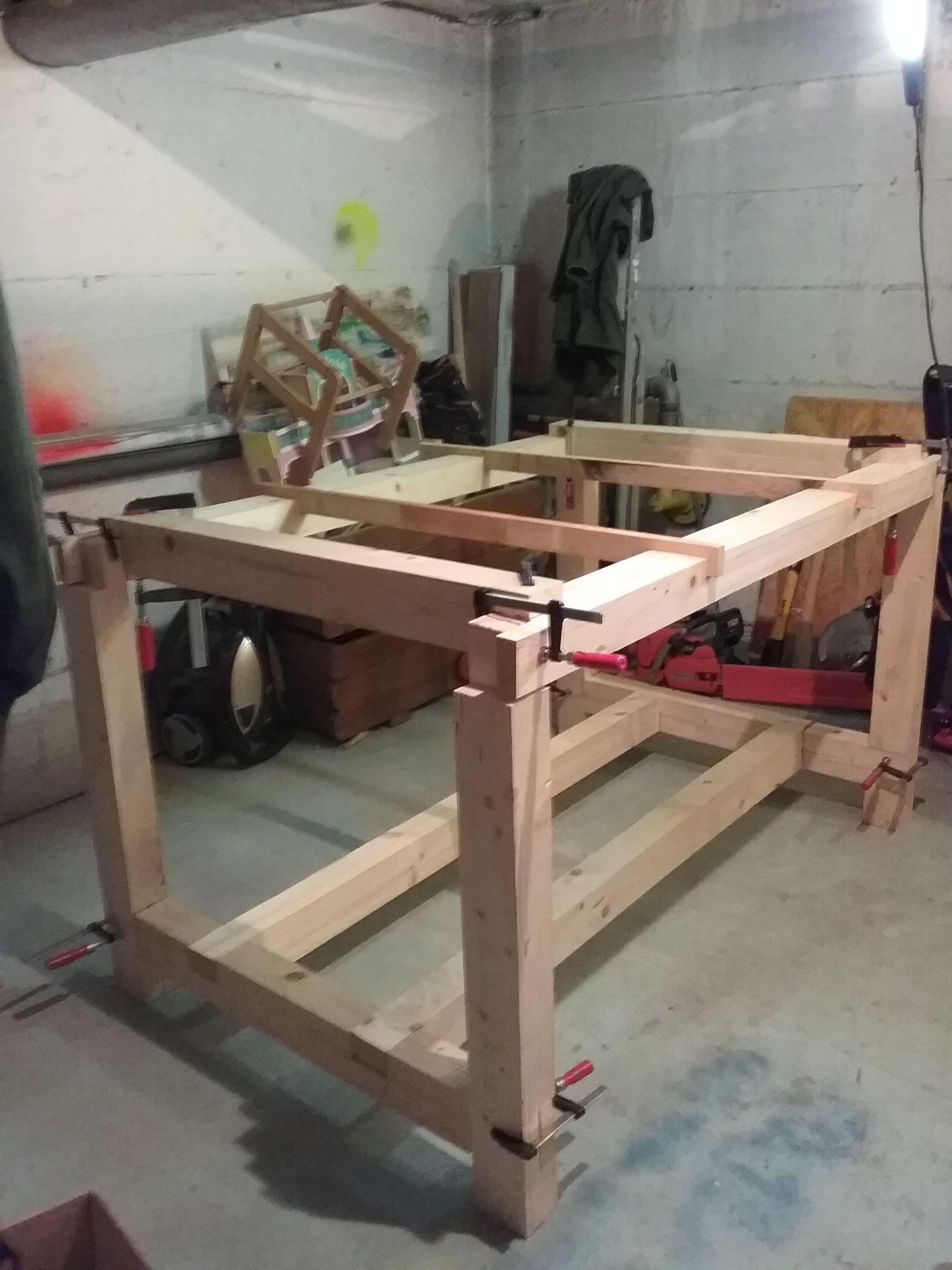 werktisch hobelbank bauanleitung zum selber bauen. Black Bedroom Furniture Sets. Home Design Ideas