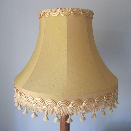 Golden Yellow Vintage Standard Lampshade Vintage Lampshades Shabby Chic Lamps Shabby Chic Furniture