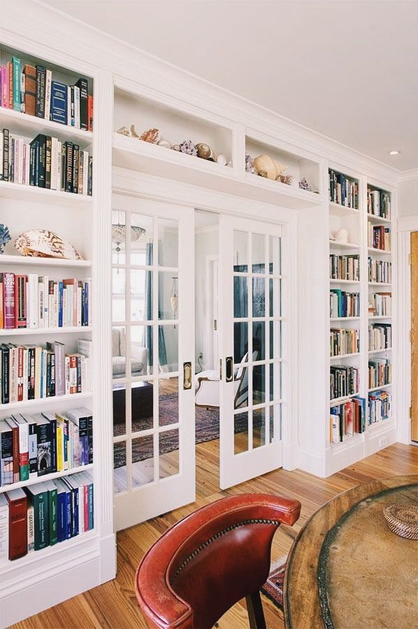 Builtins With French Doors For Study