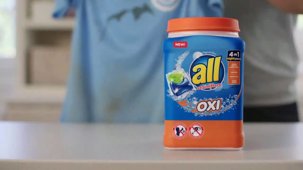 All Laundry Detergent All Oxi Mightypacs First Adventures Ad