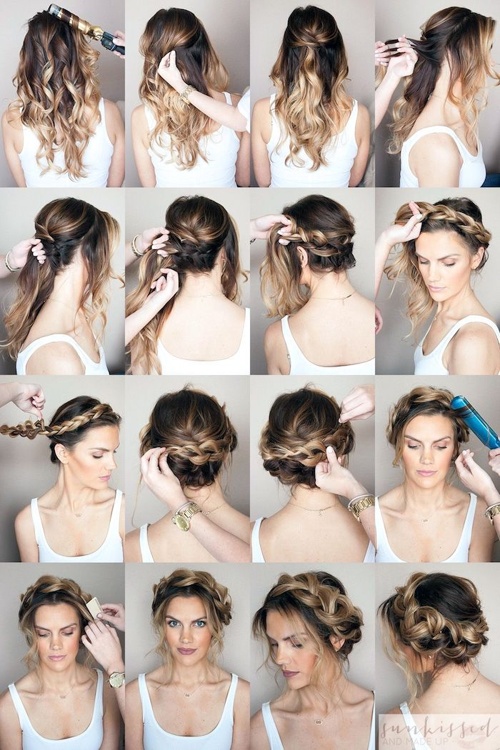 1001 + inspiring ideas for simple hairstyles for everyday wear in 2020 | Braided crown ...