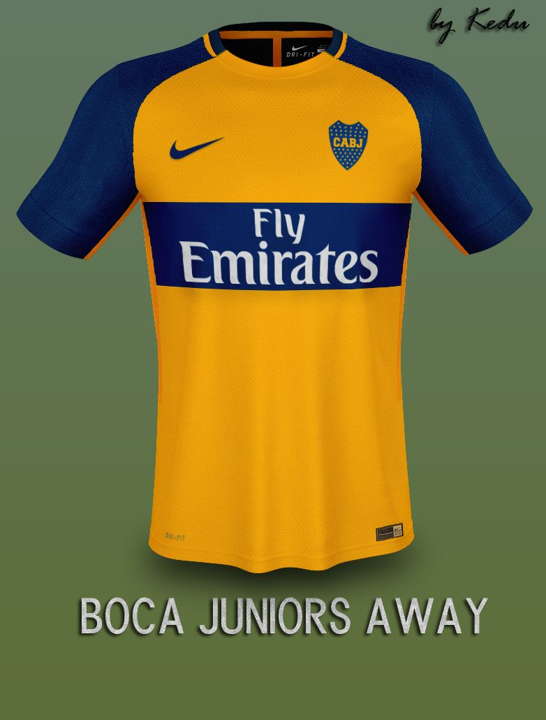 Diseño de Kit Nike Boca Juniors Away Fantasay  7609eb86f26cc