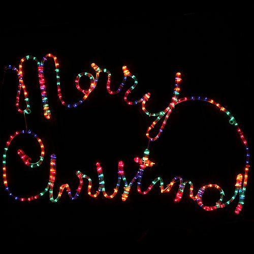 Outdoor Display Lights Merry Christmas Rope Lights ...
