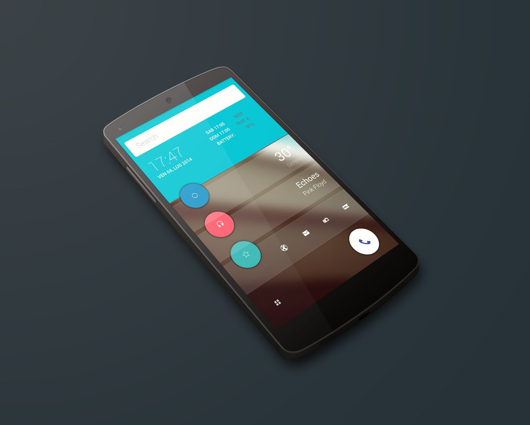 Material Design Android Homescreen   By Emiddio Polcaro
