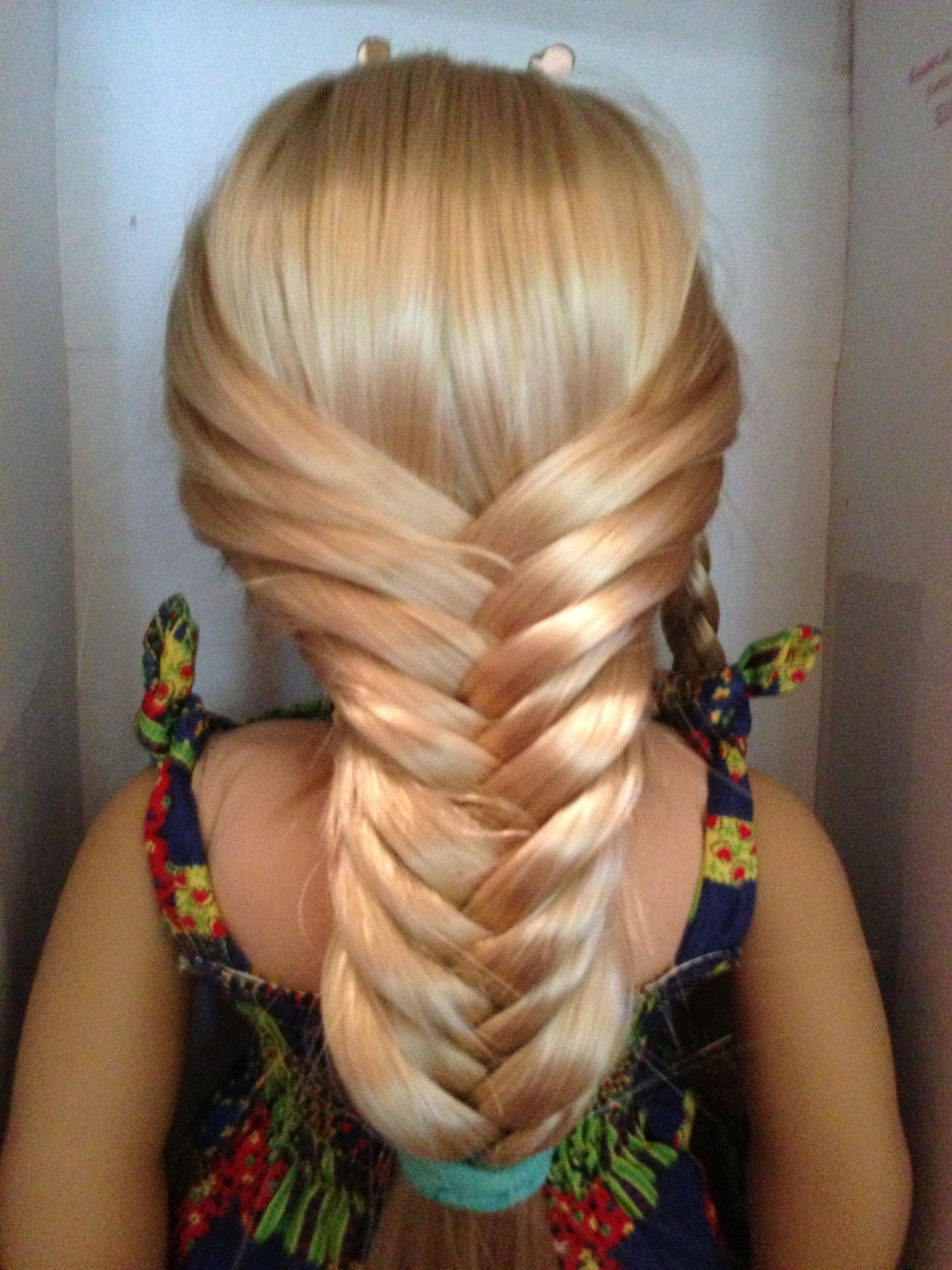 Fishtail braid are perfect and easy to do on American Girl doll