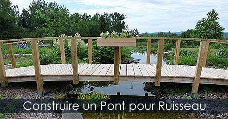 Pingl par jardinage qu bec sur ruisseau de jardin tapes d 39 am nagement pinterest pont de - Passerelle en bois pour jardin ...