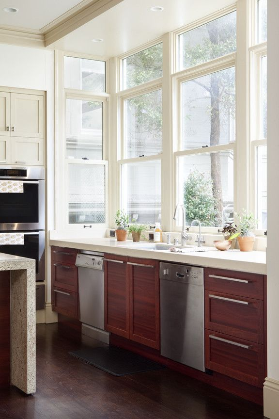 Transitional kitchen remodel in historic San Francisco home Love