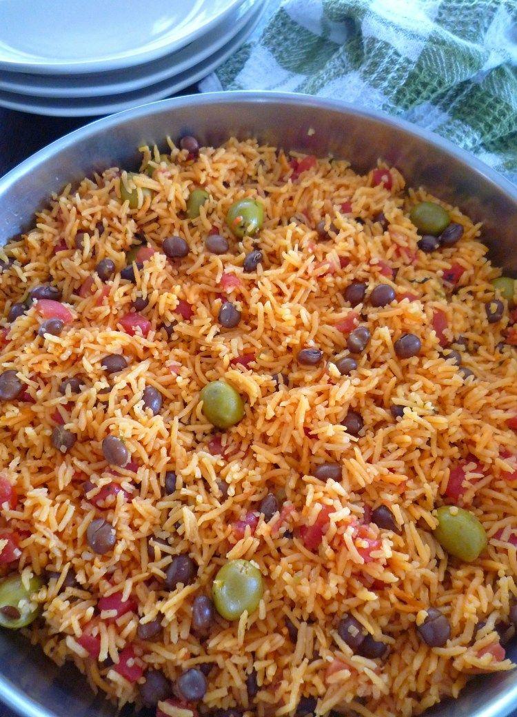 Rice with Pigeon Peas ( Arroz Con Gandules ) #seasonedricerecipes