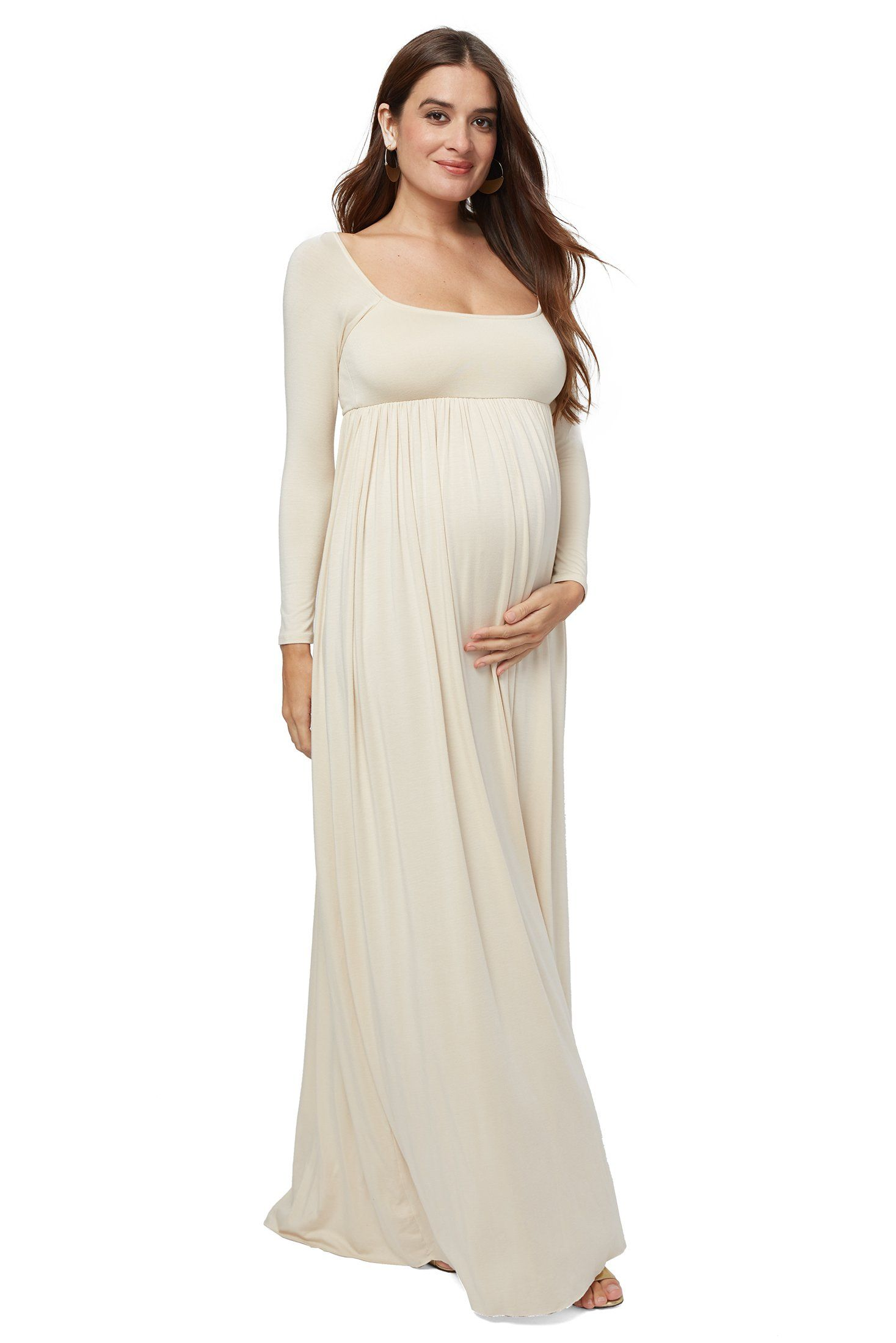 00511be1ef4cc ISA DRESS - CREAM Maternity but perfect for post baby portraits Pregnant  Wedding, Maternity Wedding