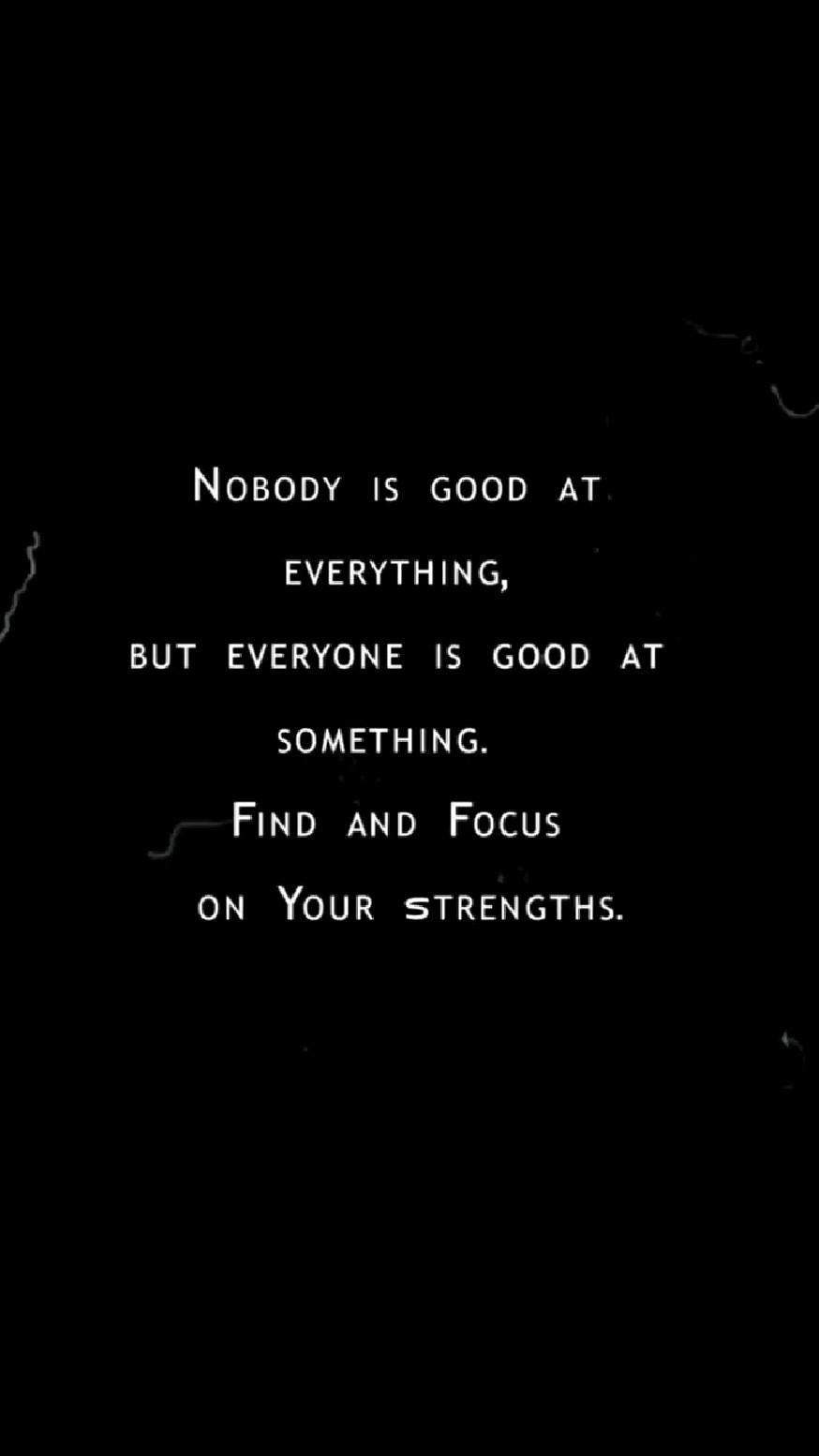 YOUR STRENGTHS!
